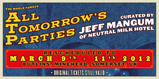 Jeff Mangum's ATP rescheduled to March 2012