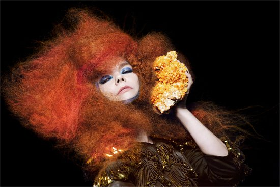 Björk messes with children's brains, performs in the round