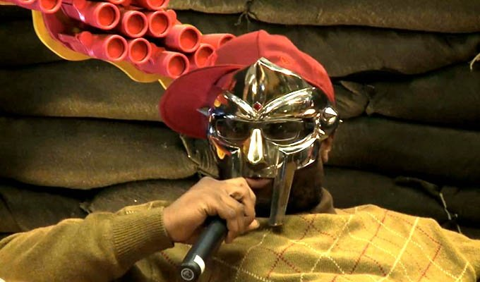 "MF DOOM reissues Operation: Doomsday for a second time. Guess he still didn't notice the giant ""MISSION ACCOMPLISHED"" banner."