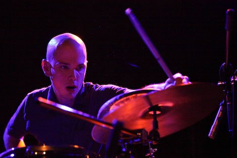 Chris Corsano and Bill Orcutt are touring together, playing the guitar like drums and the drums like guitar