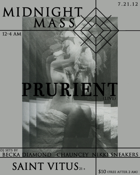 Prurient to perform for the first time in like a year or something!